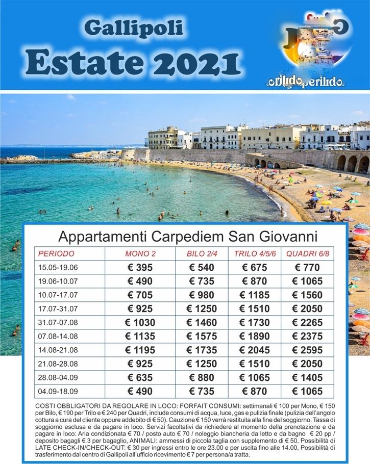 Gallipoli estate 2021